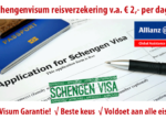 Schengen visitor? Medische verzekering v.a. € 2,- per dag