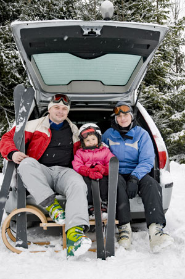 Autohuurverzekering voor wintersport